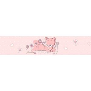 Macis bordűr, rózsaszín