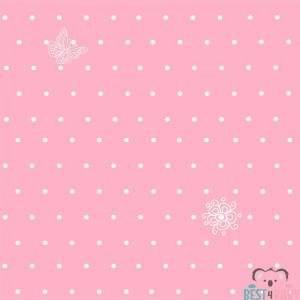 Pöttyös rózsaszín tapéta
