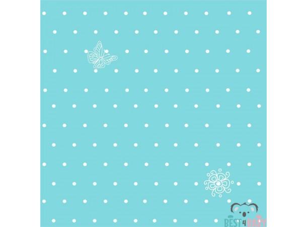 Kék-fehér pöttyös tapéta