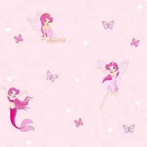 Pink tündérek lány tapéta