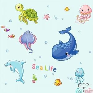 Óceán állatai gyerektapéta