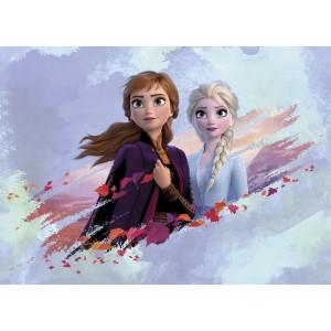 Jégvarázs 2 poszter, Anna, Elsa, erdő